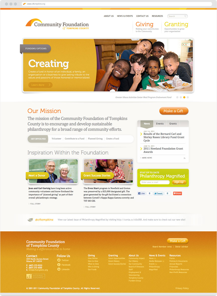 Community Foundation of Tompkins County Website
