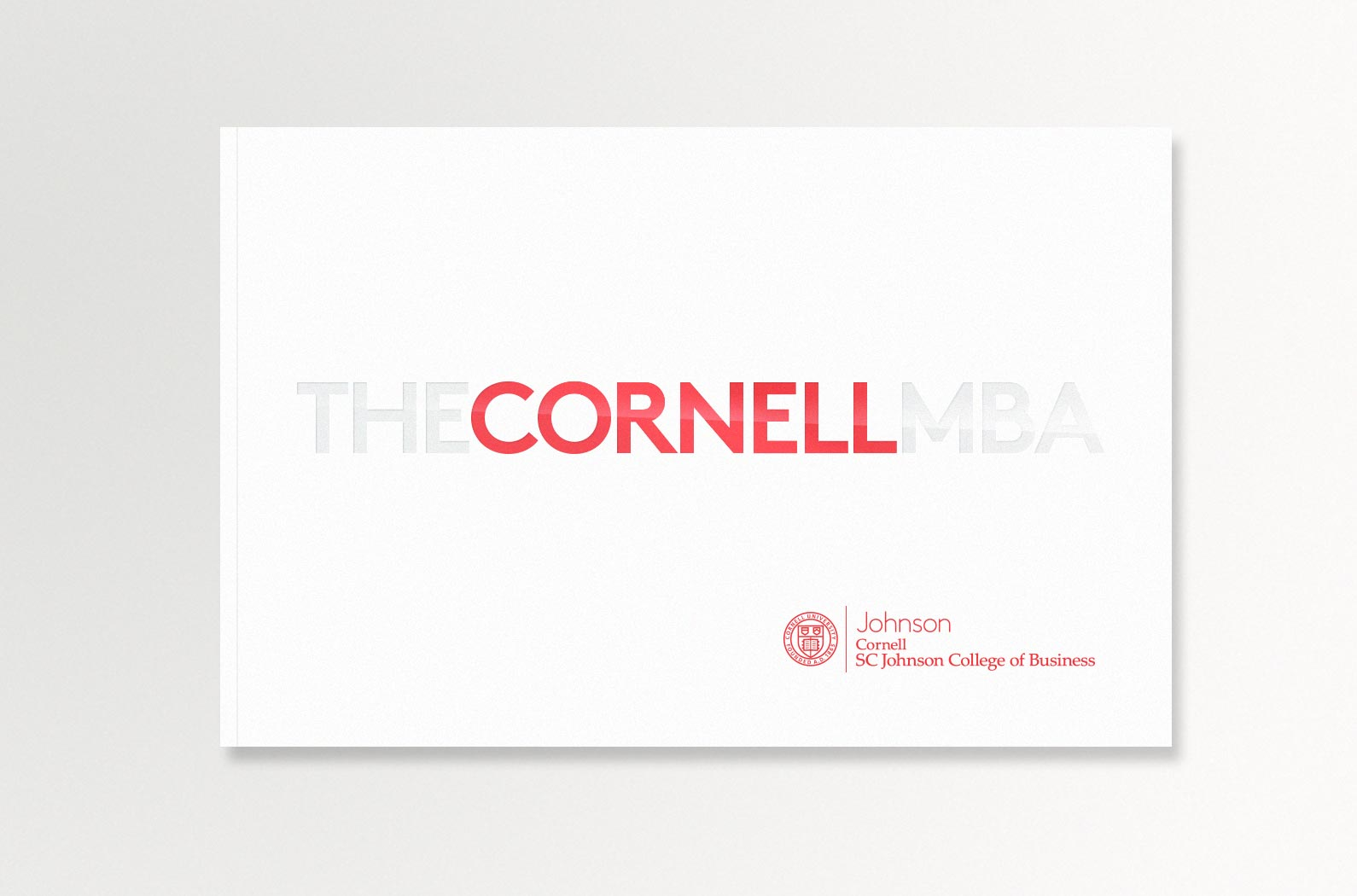 The Cornell MBA Viewbook Cover