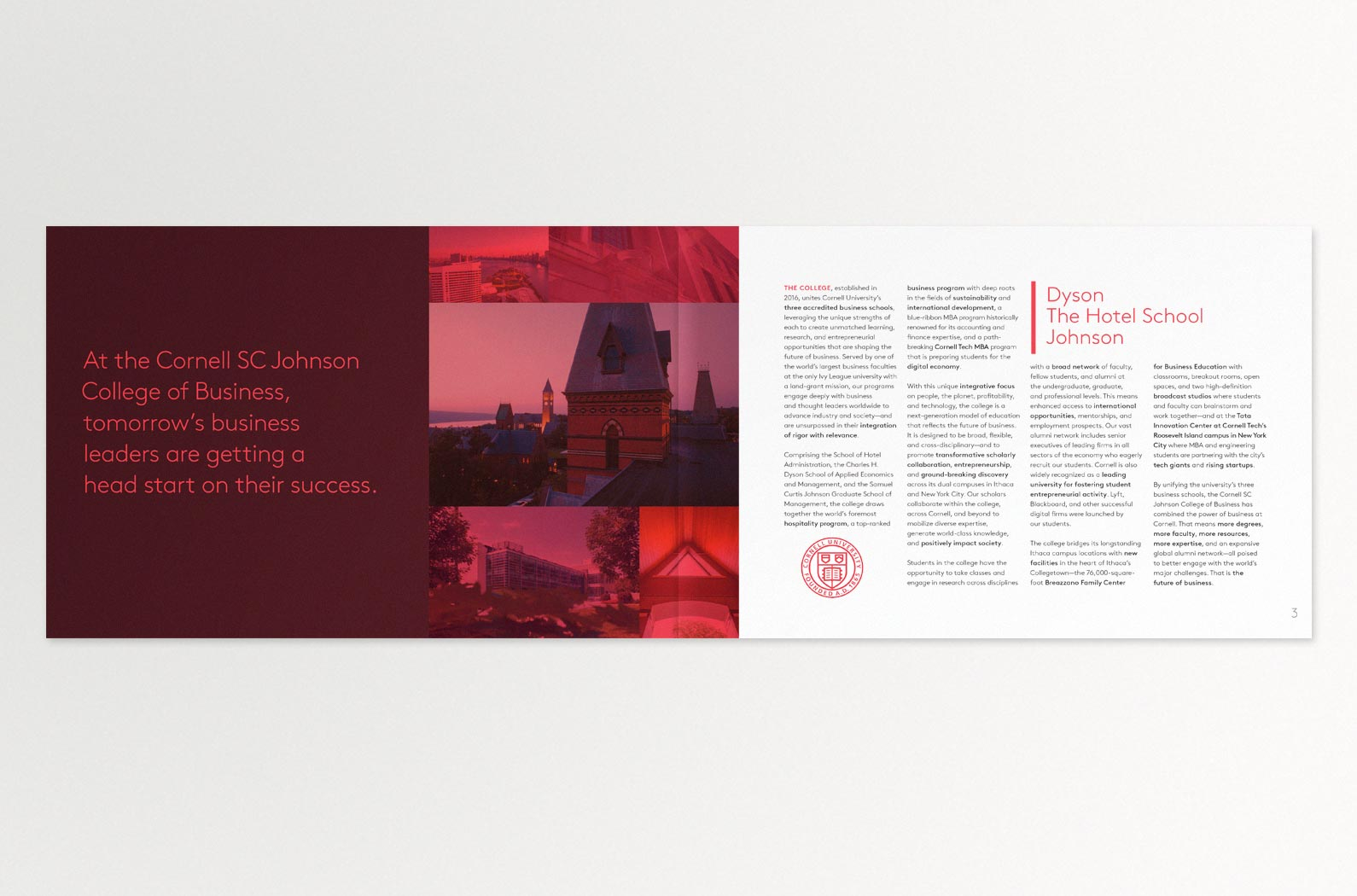 The Cornell MBA Viewbook Interior