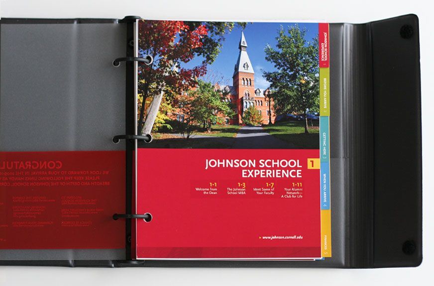 Johnson Admissions Binder Section Intro