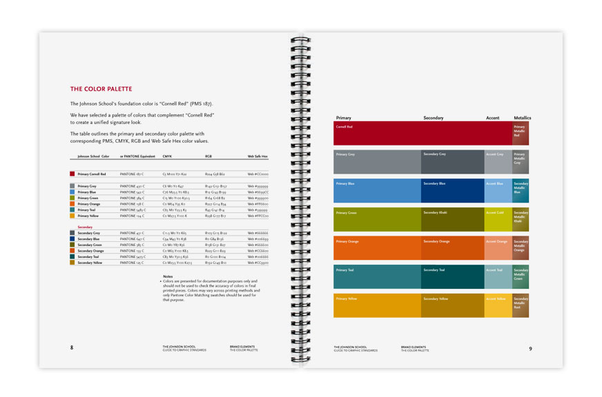 The Johnson School Brand Guidelines Color Palette