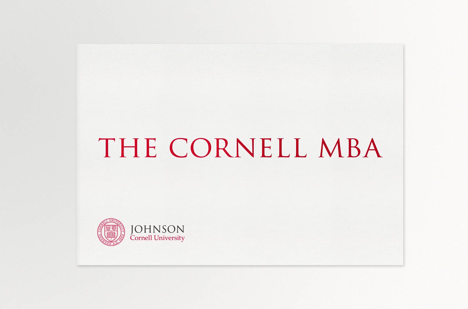 Johnson Cornell MBA Viewbook Cover
