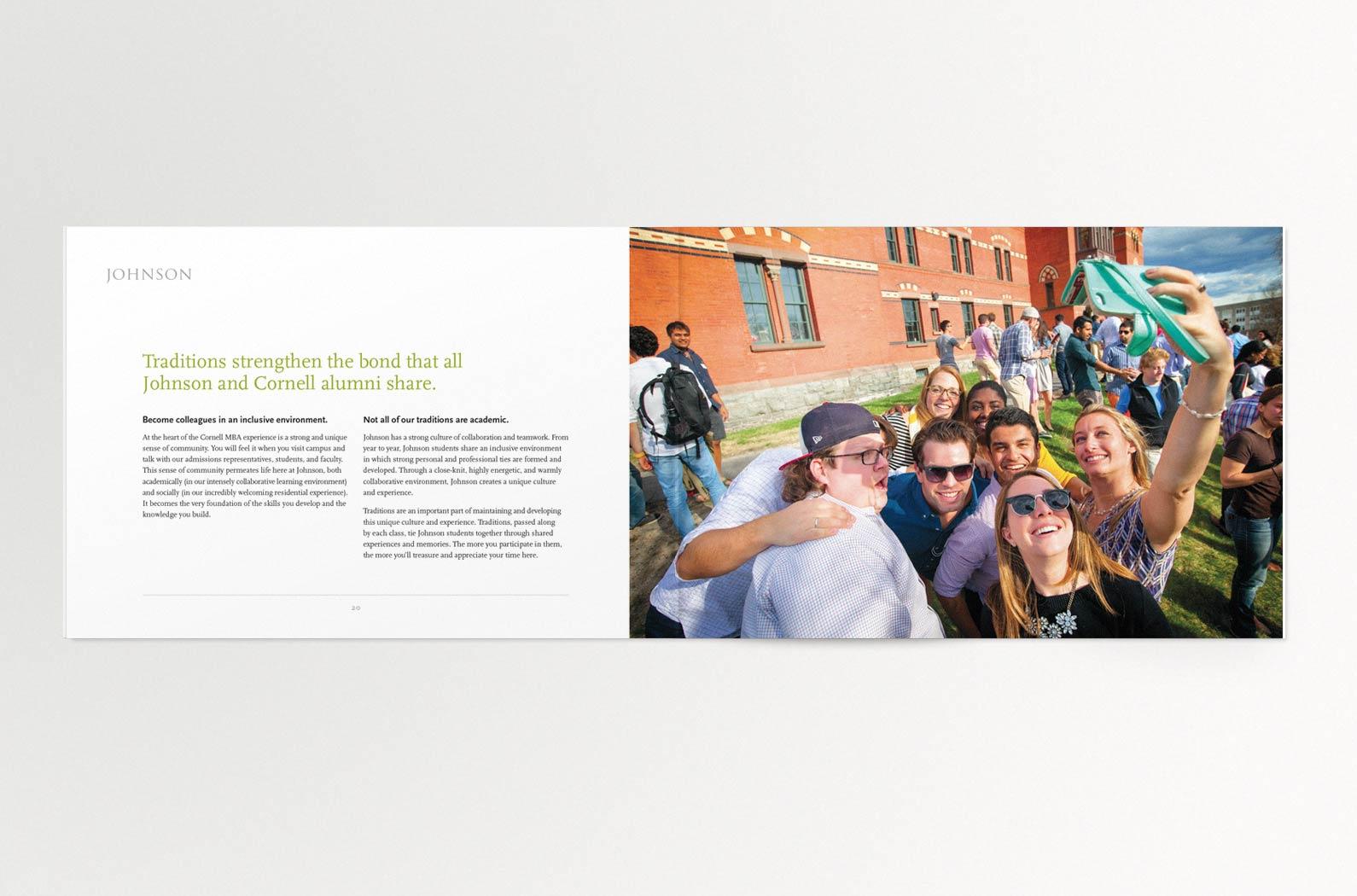 Johnson Cornell MBA Viewbook Interior Spread