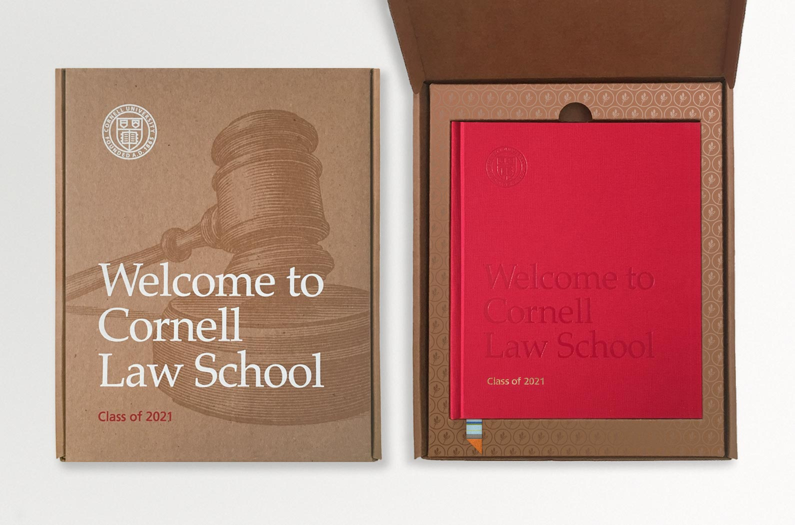 Welcome to Cornell Law School Admissions Package Box and Book