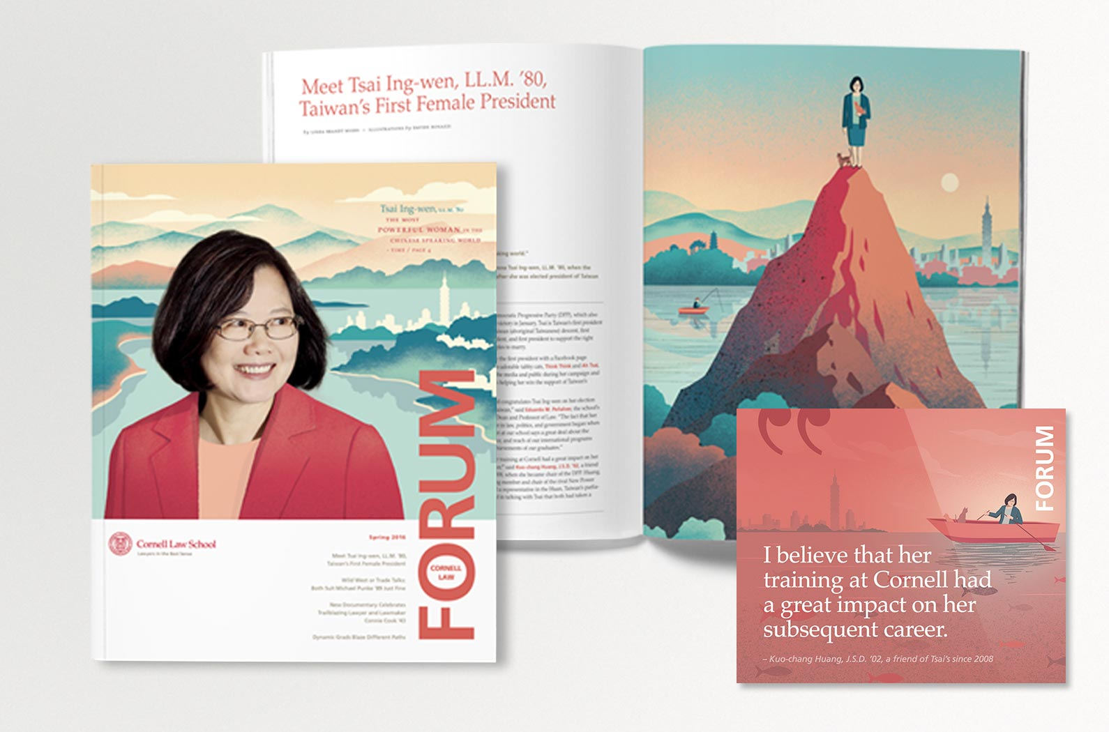Cornell Law School FORUM Magazine Tsai Ing-wen Cover and Feature Article