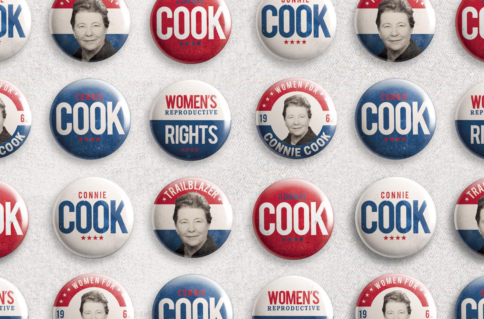 Cornell Law School FORUM Magazine Connie Cook Campaign Buttons