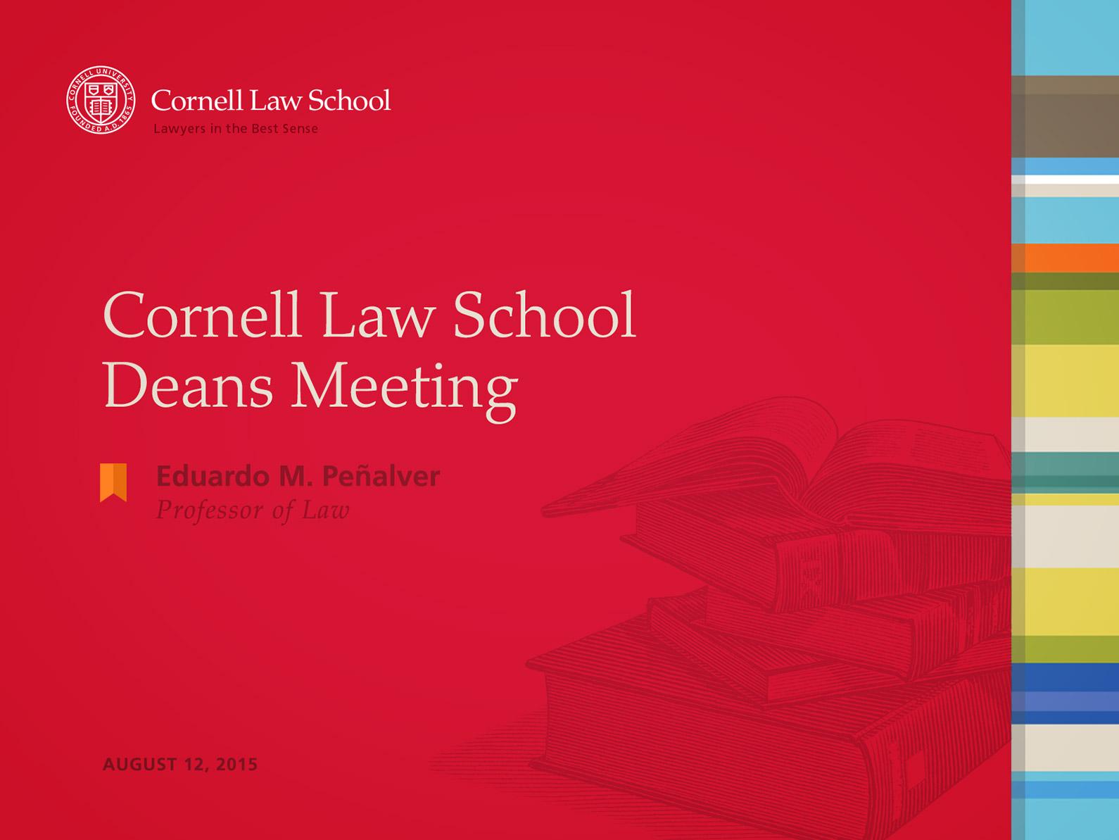 Cornell Law School PowerPoint Template Intro Slide