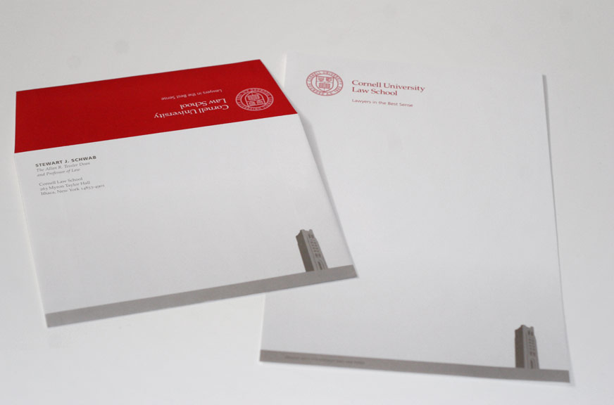 Cornell Law School Notepaper and Envelope