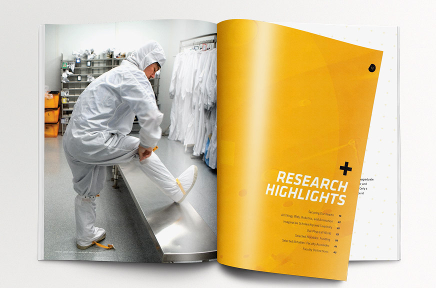Cornell Research Annual Report Publication Yellow Section Intro