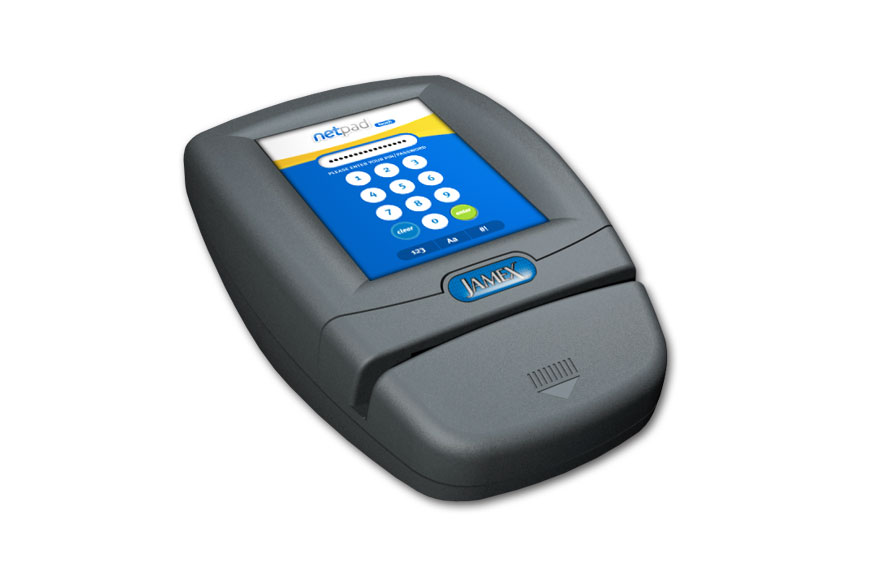 NetPad Touch Card Reader Interface Passcode Input View