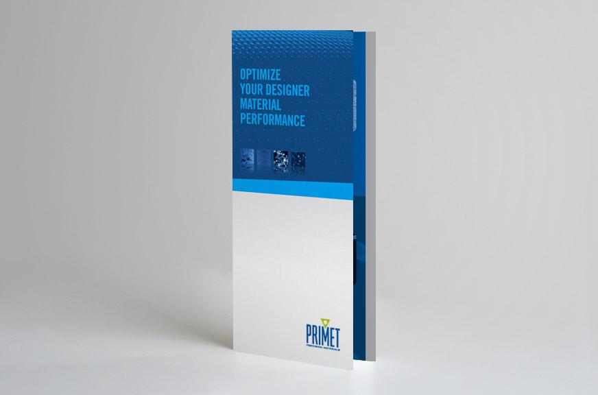 Primet Precision Materials Trifold Brochure Front