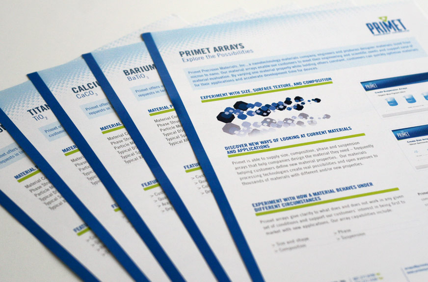 Primet Precision Materials Spec Sheets