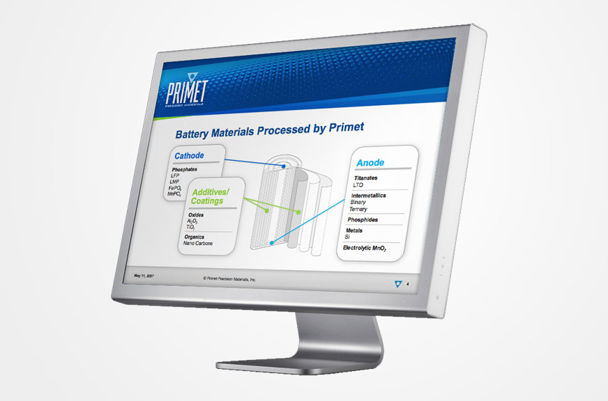 Primet Precision Materials PowerPoint Template